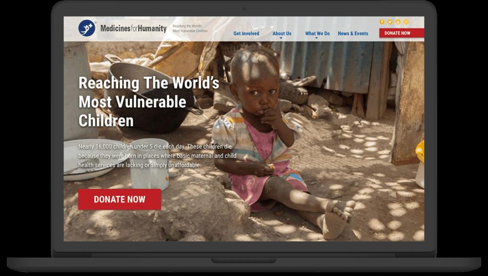 Medicines for Humanity Site Screenshot
